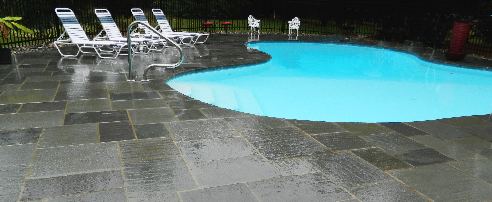 Elegant Pool Stone Decking
